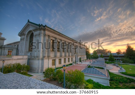 Berkeley Campus Library - stock photo
