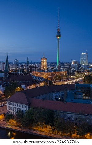 Berlin at Night - stock photo