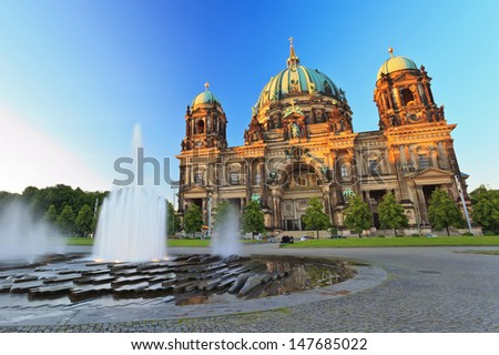 Berlin Cathedral (Berliner Dom) Berlin, Germany at twilight time - stock photo