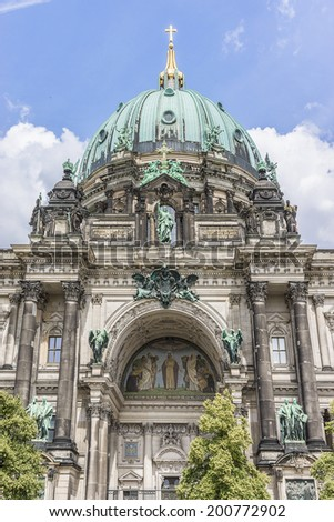 Berlin Cathedral (Berliner Dom) - famous landmark on the Museum Island in Mitte, Berlin, Germany. - stock photo