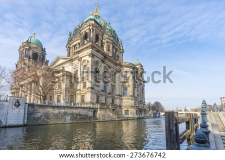 Berlin cathedral in the morning, Berlin Germany - stock photo