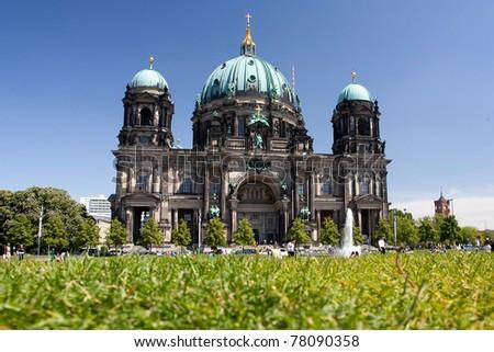 berlin dom in berlin, germany - stock photo