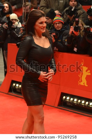 BERLIN - FEB 15: Gina Carano arrives for the screening of Haywire at Berlin Film Festival Feb 15, 2012, Berlin, Germany