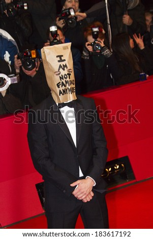 BERLIN - FEB 9: Shia LaBeouf at the 'Nymphomaniac Volume I' premiere - 64th Berlinale International Film Festival at Berlinale Palast on February 9, 2014 in Berlin, Germany - stock photo