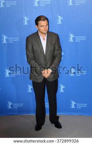 BERLIN - FEBRUARY 13: Actor Leonardo DiCaprio attends the 'Shutter Island' Photocall during day three of the 60th Berlin Film Festival at the Grand Hyatt Hotel on February 13, 2010 in Berlin, Germany - stock photo