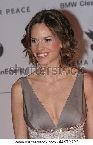 BERLIN - FEBRUARY 11: Actress Hilary Swank attends the 'Cinema for Peace' event during day five of the 58th Berlinale  Film Festival held at the Konzerthaus , on February 11, 2008 in Berlin, Germany