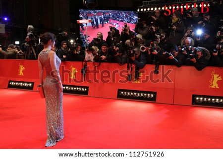 BERLIN - FEBRUARY 17: Christina Ricci attends the 'Bel Ami' Premiere at the 62nd Berlinale at the Berlinale Palast on February 17, 2012 in Berlin, Germany. - stock photo