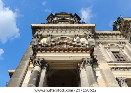 Berlin, Germany. Capital city architecture - Berlin Cathedral (Berliner Dom), renaissance style landmark.