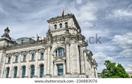 Berlin, Germany. City architectural detail in summer season. - stock photo
