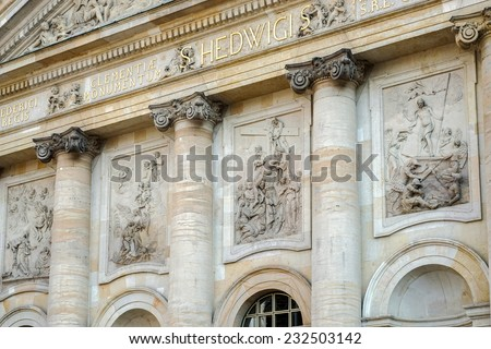 BERLIN, GERMANY/EUROPE - SEPTEMBER 15 : St. Hedwig's Cathedral in Berlin Germany on September 15, 2014
