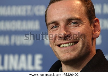 BERLIN, GERMANY - FEBRUARY 15: Actor Michael Fassbender attends the 'Haywire' Press Conference during of the 62nd Berlin  Film Festival at the Grand Hyatt on February 15, 2012 in Berlin, Germany. - stock photo