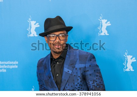 Berlin, Germany - February 16, 2016  - Actor Nick Cannon attends the 'Chi-Raq' photo call during the 66th Berlinale International Film Festival Berlin - stock photo