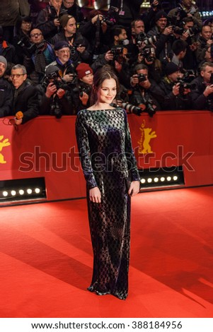 Berlin, Germany - February 11, 2016 -Actress Emilia Schuele attends the 'Hail, Caesar!' premiere during the 66th Berlinale International Film Festival - stock photo