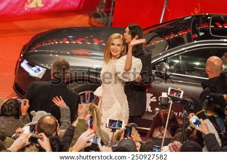 BERLIN, GERMANY - FEBRUARY 06: Actress Nicole Kidman attends the 'Queen of the Desert' premiere during the 65th Berlinale International Film Festival at Berlinale Palace on February 6, 2015 - stock photo