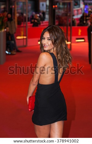 Berlin, Germany - February 16, 2016  - Actress Pollyanna Uruena attends the 'Soy Nero' premiere during the 66th Berlinale International Film Festival - stock photo