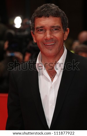 BERLIN, GERMANY - FEBRUARY 15: Antonio Banderas attends the 'Haywire' Premiere at the 62nd Berlin International Film Festival at the Berlinale Palast on February 15, 2012 in Berlin, Germany. - stock photo