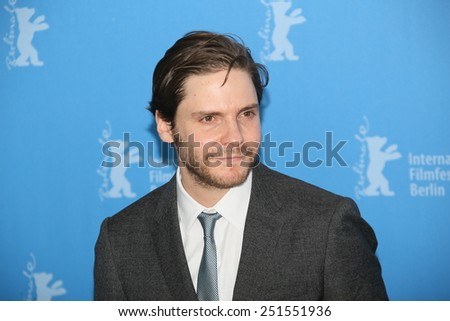 BERLIN, GERMANY - FEBRUARY 09:  Daniel Bruehl attends the 'Woman in Gold' photocall during the 65th Berlinale Festival at Grand Hyatt Hotel on February 9, 2015 in Berlin, Germany. - stock photo