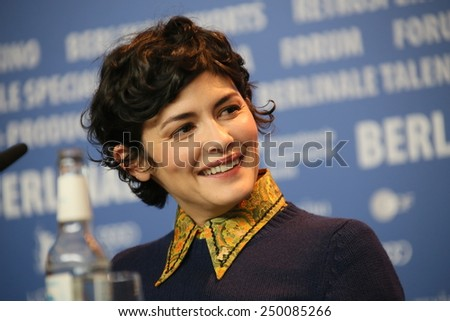 BERLIN, GERMANY - FEBRUARY 05: Daniel Bruehl, Darren Aronofsky, Audrey Tautou,   attend the Jury press conference  during the 65th Berlinale at Grand Hyatt Hotel on February 5, 2015 in Berlin, Germany - stock photo