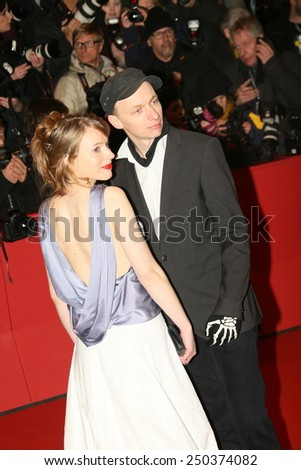 BERLIN, GERMANY - FEBRUARY 05: Dietrich Brueggemann and his sister Anna  attend the opening party during the 65th Berlinale Film Festival at Berlinale Palace on February 5, 2015 in Berlin, Germany. - stock photo