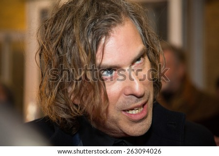 BERLIN, GERMANY - FEBRUARY 07: Director Brett Morgen attend the 'Cobain: Montage of Heck' premiere during the 65th Berlinale International Film Festival at Kino International on February 7, 2015  - stock photo