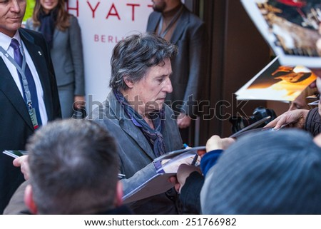 Berlin, Germany - February 05, 2015: Gabriel Byrne attends press conference on 65 Film Festival in Berlin on 05.01.2015