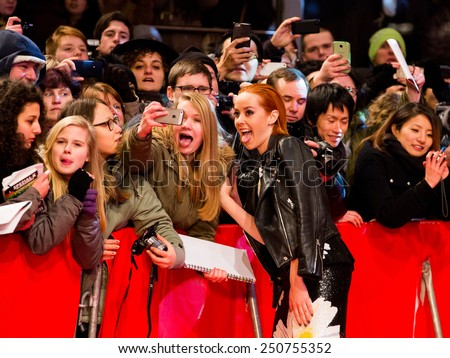 BERLIN, GERMANY - FEBRUARY 05: Jena Malone. Nobody Wants the Night, Opening Night premiere  65th Berlinale International Film Festival at Berlinale Palace on February 5, 2015 in Berlin, Germany - stock photo