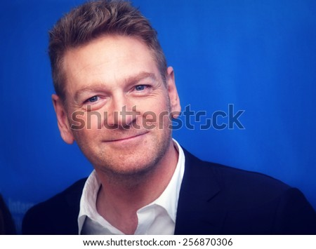 BERLIN, GERMANY - FEBRUARY 13: Kenneth Branagh attends the 'Cinderella' photocall during the 65th Berlinale International Film Festival at Grand Hyatt Hotel on February 13, 2015 in Berlin, Germany. - stock photo