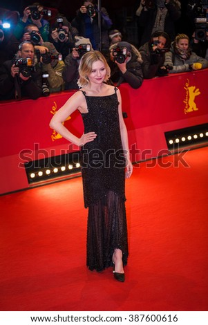 Berlin, Germany - February 12, 2016 - Kirsten Dunst attends the 'Midnight Special' premiere during the 66th Berlinale International Film Festival - stock photo