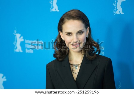 BERLIN, GERMANY - FEBRUARY 08: Natalie Portman attend the 'Knight of Cups' photocall. 65th Berlinale International Film Festival at Grand Hyatt Hotel on February 8, 2015 in Berlin, Germany - stock photo