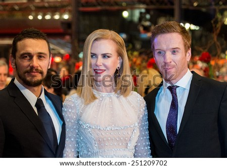 BERLIN, GERMANY - FEBRUARY 06: Nicole Kidman, Damian Lewis, James Franco,'Queen of the Desert' premiere. 65th Film Festival at Berlinale Palace,  February 6, 2015 in Berlin, Germany. - stock photo