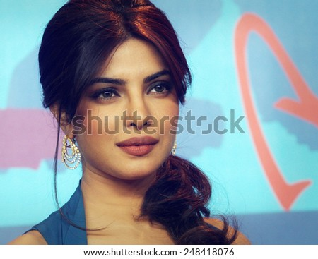 BERLIN, GERMANY - FEBRUARY 10: Priyanka Chopra Roma attends the 'Don - The King Is Back' Press Conference during of the 62 Berlin Festival at the Grand Hyatt on February 10, 2012 in Berlin, Germany. - stock photo