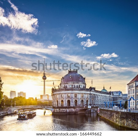 Berlin, Germany in the morning. - stock photo