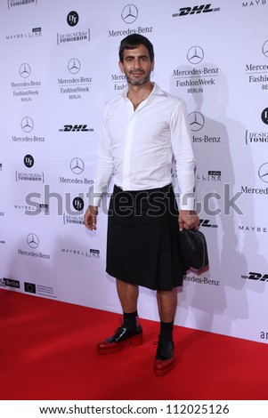BERLIN, GERMANY - JULY 04: Designer Marc Jacobs attends the Designer For Tomorrow Show during the Mercedes-Benz Fashion Week Spring/Summer 2013 on July 4, 2012 in Berlin, Germany. - stock photo