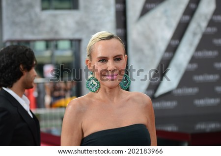 BERLIN - GERMANY - JUNE 29: Natascha Ochsenknecht at the European premiere from Transformer 4 - Age of Extinction at CineStar,Sony Center on June 29, 2014 in Berlin, Germany. - stock photo
