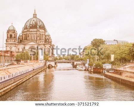 BERLIN, GERMANY - MAY 09, 2014: Boats on the Spree River vintage