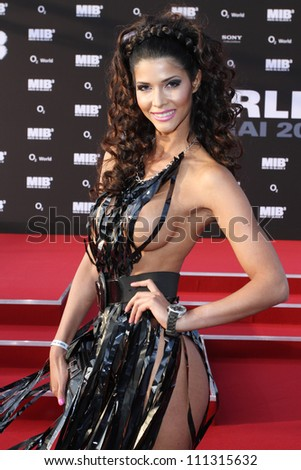 BERLIN, GERMANY - MAY 14: Micaela Schaefer attends the Men In Black 3 Premiere at the O2 World on May 14, 2012 in Berlin, Germany. - stock photo