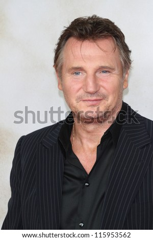 BERLIN, GERMANY - SEPTEMBER 11: Liam Neeson attends the '96 Hours- Taken 2' Germany Premiere at Kino in der Kulturbrauerei on September 11, 2012 in Berlin, Germany. - stock photo