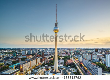 Berlin, Germany view. - stock photo