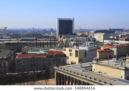 Berlin is the capital and seat of government of the Federal Republic of Germany - stock photo