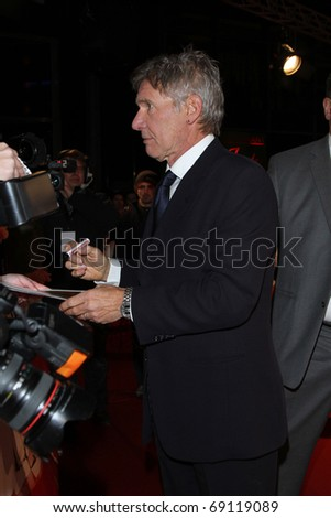 BERLIN - JANUARY 09: Harrison Ford attends the premiere of 'Morning Glory' at the CineStar. January 9, 2011 in Berlin, Germany.