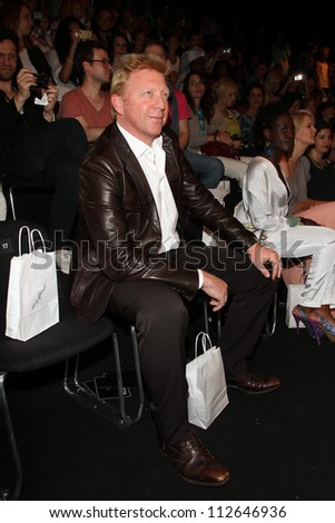 BERLIN - JULY 07: Boris Becker attends the Holy Ghost show at Mercedes-Benz Fashion Week Spring/Summer 2013 on July 7, 2012 in Berlin, Germany.