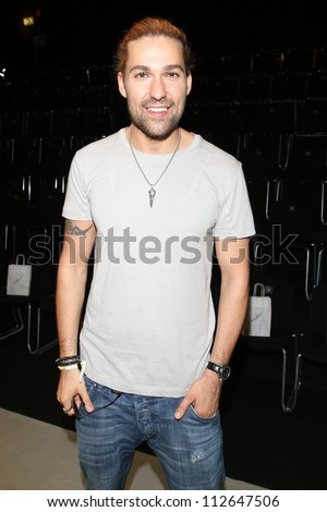 BERLIN - JULY 07: David Garrett attends the Holy Ghost show at Mercedes-Benz Fashion Week Spring/Summer 2013 on July 7, 2012 in Berlin, Germany. - stock photo