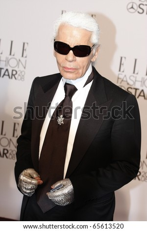 BERLIN - JULY 19: Karl Lagerfeld attends the Elle Fashion Star 2008 at the Tempodrom. July 19, 2008 in Berlin. - stock photo