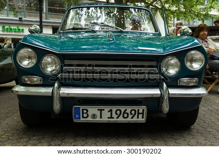 BERLIN - JUNE 14, 2015: Compact six-cylinder car Triumph Vitesse. The Classic Days on Kurfuerstendamm.