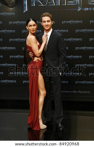 BERLIN - JUNE 14: Megan Fox and Shia LaBeouf attend the German premiere of 'Transformers: Revenge Of The Fallen' at the Sony Center CineStar on June 14, 2009 in Berlin, Germany - stock photo