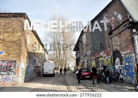 BERLIN â?? March 1st: Flowmarkt  (flea market). Taking place from April till October on every first and third Sunday on March 1 2015 in Berlin, Germany. - stock photo