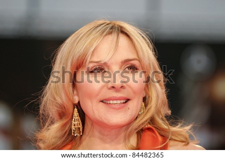 BERLIN - MAY 15: Kim Catrall attends the German premiere of 'Sex And The City' at the Cinestar movie on May 15, 2008 in Berlin, Germany. - stock photo