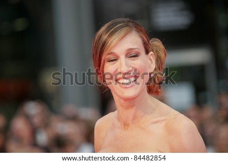 BERLIN - MAY 15:  Sarah Jessica Parker attends the German premiere of 'Sex And The City' at the Cinestar movie on May 15, 2008 in Berlin, Germany. - stock photo
