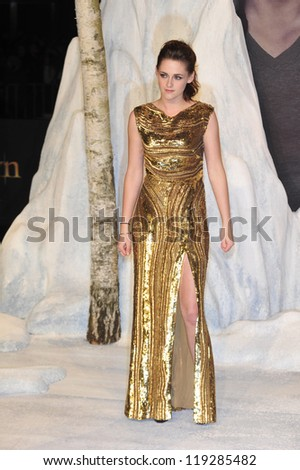 BERLIN - NOVEMBER 16: Kristen Stewart attends the 'Twilight Saga: Breaking Dawn Part 2' Germany Premiere at CineStar on November 16, 2012 in Berlin, Germany. - stock photo