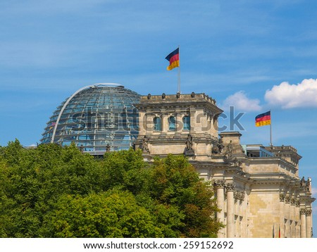 Berlin Reichstag (Houses of Parliament) in Germany - stock photo
